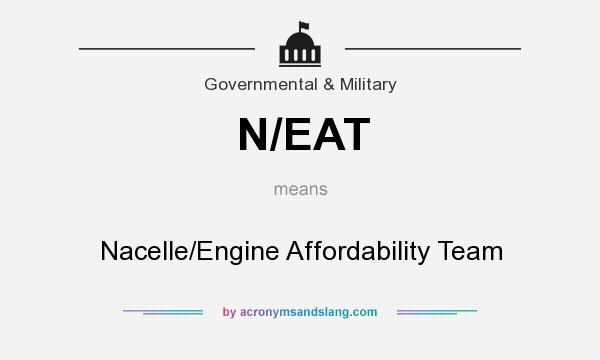 What does N/EAT mean? It stands for Nacelle/Engine Affordability Team