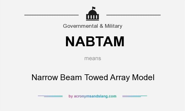 What does NABTAM mean? It stands for Narrow Beam Towed Array Model