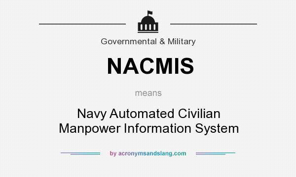What does NACMIS mean? It stands for Navy Automated Civilian Manpower Information System