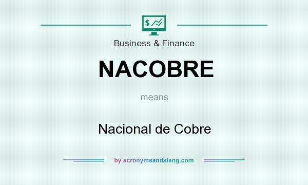 What does NACOBRE mean? It stands for Nacional de Cobre