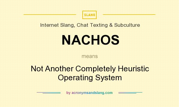 What does NACHOS mean? It stands for Not Another Completely Heuristic Operating System