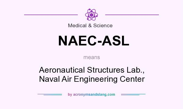 What does NAEC-ASL mean? It stands for Aeronautical Structures Lab., Naval Air Engineering Center