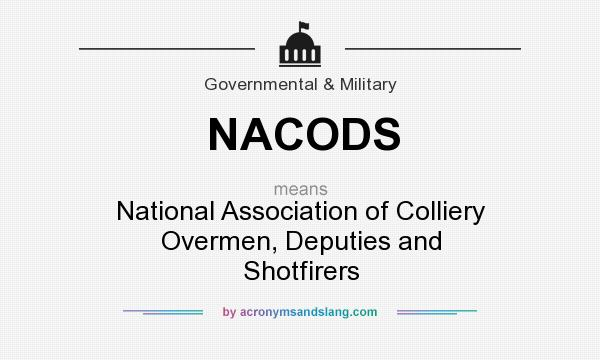 What does NACODS mean? It stands for National Association of Colliery Overmen, Deputies and Shotfirers