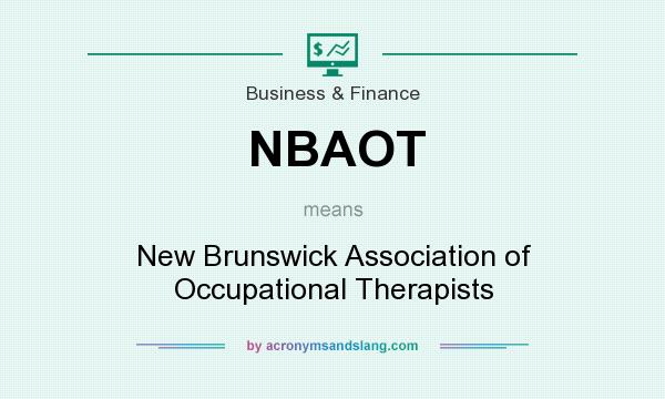 What does NBAOT mean? It stands for New Brunswick Association of Occupational Therapists