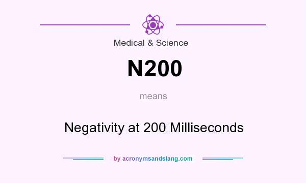 What does N200 mean? It stands for Negativity at 200 Milliseconds