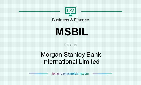 What does MSBIL mean? - Definition of MSBIL - MSBIL stands for