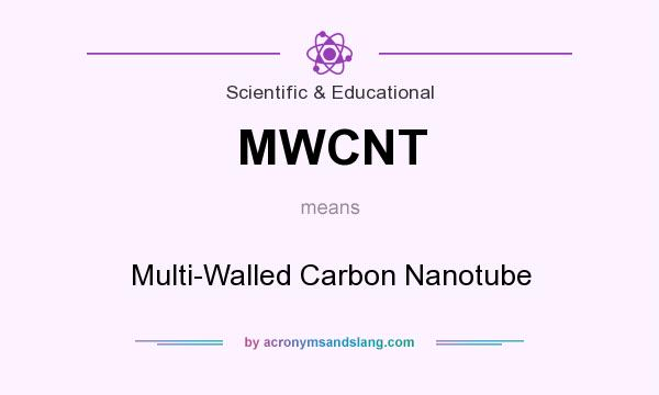 What does MWCNT mean? It stands for Multi-Walled Carbon Nanotube