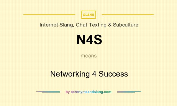 What does N4S mean? It stands for Networking 4 Success