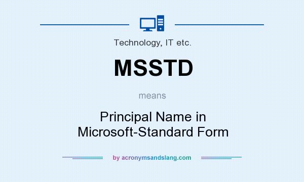 What Does Msstd Mean Definition Of Msstd Msstd Stands For