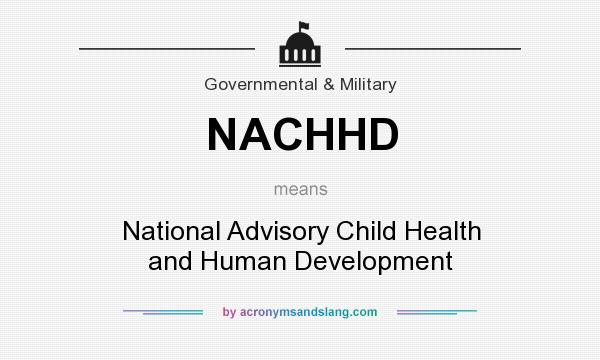 What does NACHHD mean? It stands for National Advisory Child Health and Human Development