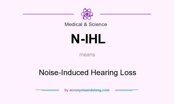 What does N-IHL mean? It stands for Noise-Induced Hearing Loss
