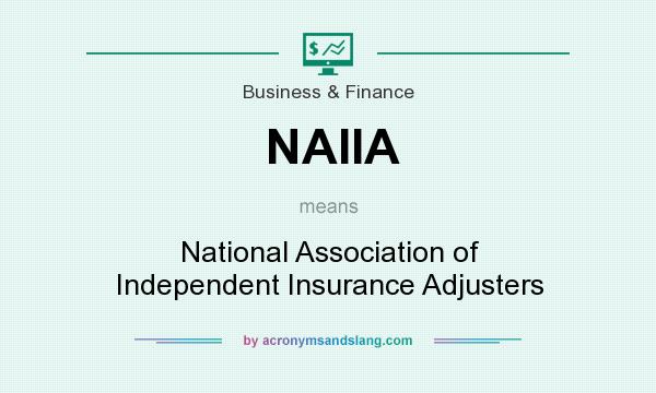 What does NAIIA mean? It stands for National Association of Independent Insurance Adjusters