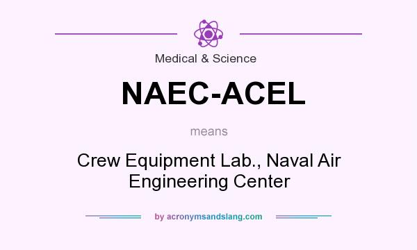 What does NAEC-ACEL mean? It stands for Crew Equipment Lab., Naval Air Engineering Center