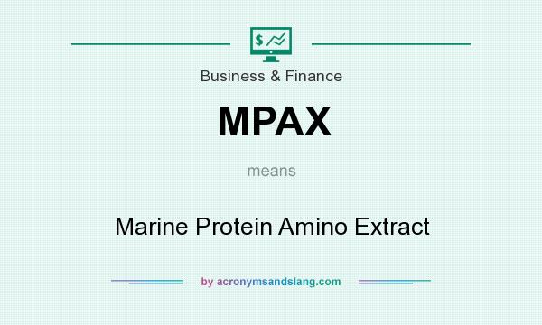What does MPAX mean? It stands for Marine Protein Amino Extract