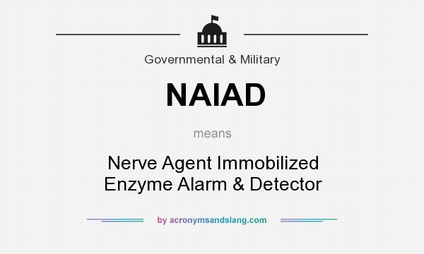 What does NAIAD mean? It stands for Nerve Agent Immobilized Enzyme Alarm & Detector