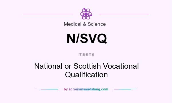 What does N/SVQ mean? It stands for National or Scottish Vocational Qualification