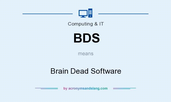 What does BDS mean? It stands for Brain Dead Software