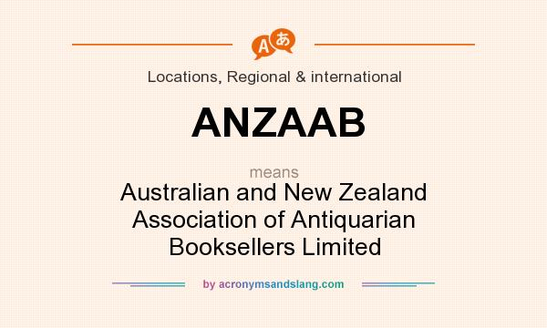 What does ANZAAB mean? It stands for Australian and New Zealand Association of Antiquarian Booksellers Limited