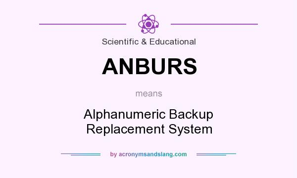 What does ANBURS mean? It stands for Alphanumeric Backup Replacement System