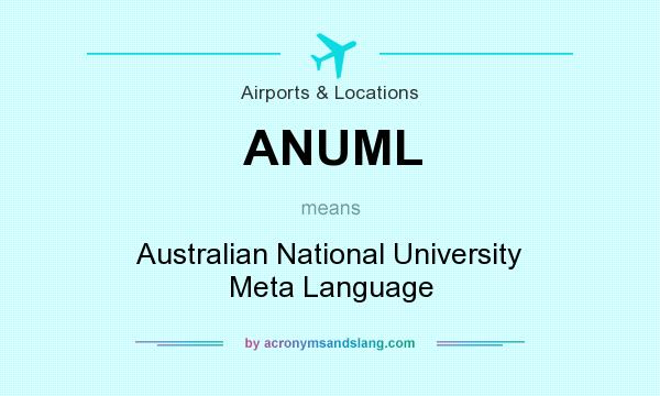 What does ANUML mean? It stands for Australian National University Meta Language