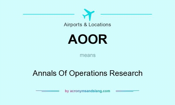 annals of operations research paper submission This is a post-proceedings and the deadline for full paper submission to appear in the schedule for publications is as annals of operations research on.