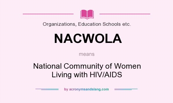 What does NACWOLA mean? It stands for National Community of Women Living with HIV/AIDS