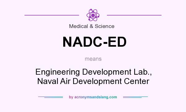What does NADC-ED mean? It stands for Engineering Development Lab., Naval Air Development Center