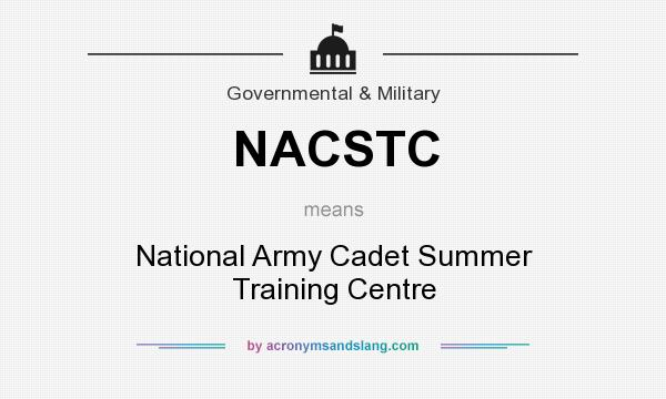 What does NACSTC mean? It stands for National Army Cadet Summer Training Centre