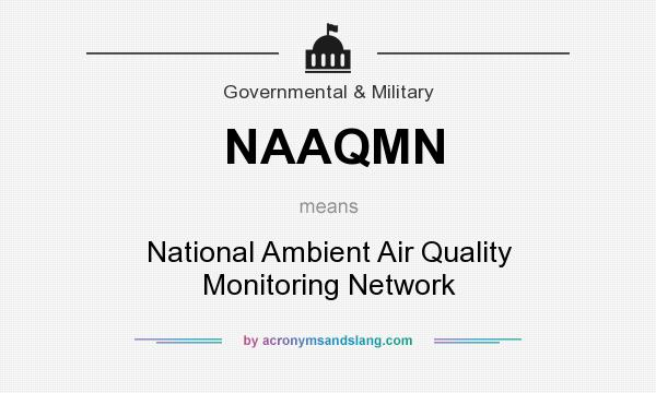 What does NAAQMN mean? It stands for National Ambient Air Quality Monitoring Network
