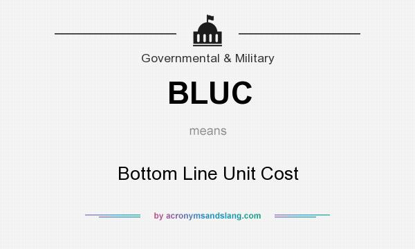 What does BLUC mean? It stands for Bottom Line Unit Cost