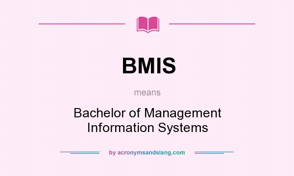 What does BMIS mean? It stands for Bachelor of Management Information Systems