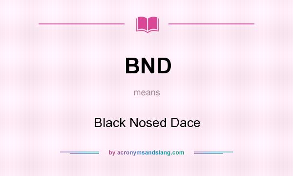 What does BND mean? It stands for Black Nosed Dace