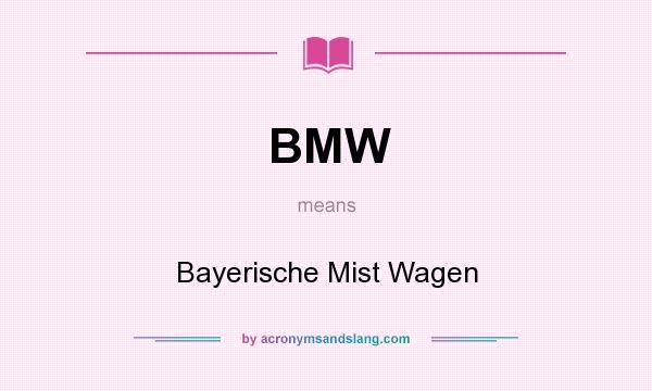 bmw bayerische mist wagen in undefined by. Black Bedroom Furniture Sets. Home Design Ideas