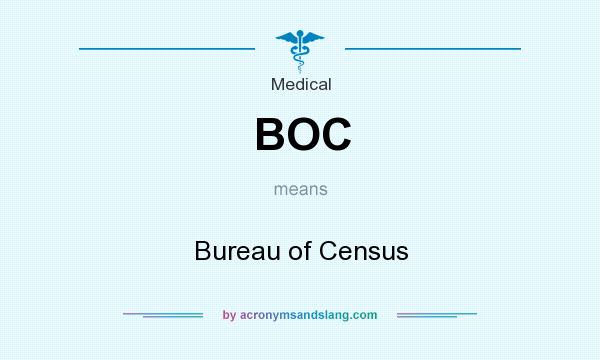 What does BOC mean? It stands for Bureau of Census