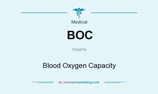 What does BOC mean? It stands for Blood Oxygen Capacity