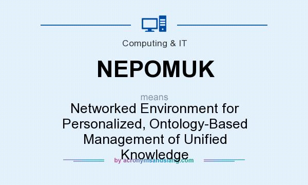 What does NEPOMUK mean? It stands for Networked Environment for Personalized, Ontology-Based Management of Unified Knowledge