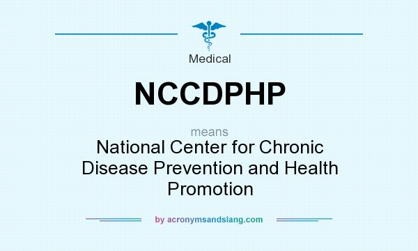 What does NCCDPHP mean? It stands for National Center for Chronic Disease Prevention and Health Promotion
