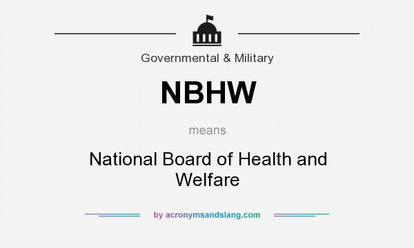 What does NBHW mean? It stands for National Board of Health and Welfare
