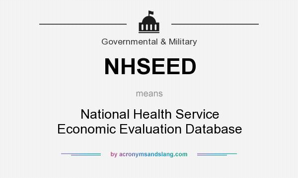 What does NHSEED mean? It stands for National Health Service Economic Evaluation Database