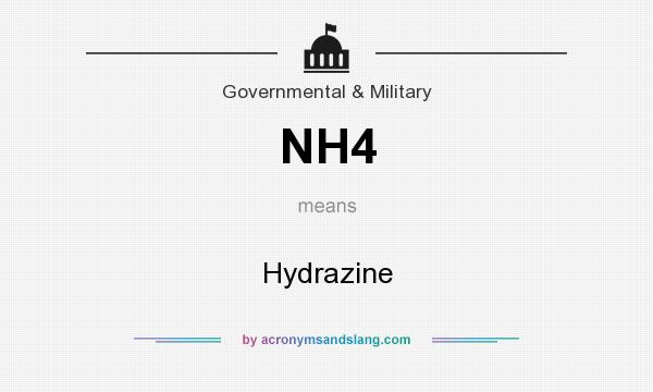 What does NH4 mean? It stands for Hydrazine
