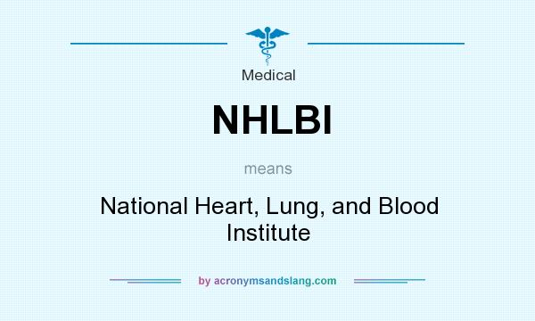 What does NHLBI mean? It stands for National Heart, Lung, and Blood Institute