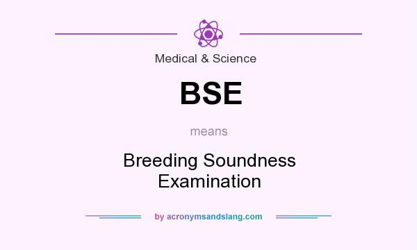 What does BSE mean? It stands for Breeding Soundness Examination