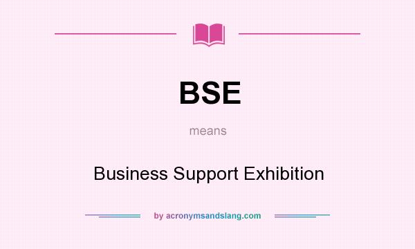 What does BSE mean? It stands for Business Support Exhibition
