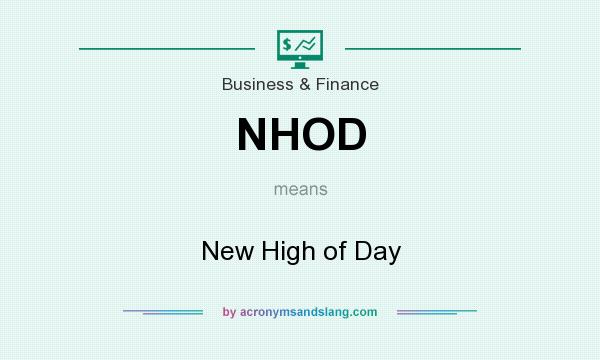 What does NHOD mean? It stands for New High of Day
