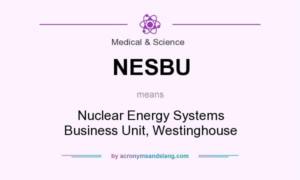 What does NESBU mean? It stands for Nuclear Energy Systems Business Unit, Westinghouse