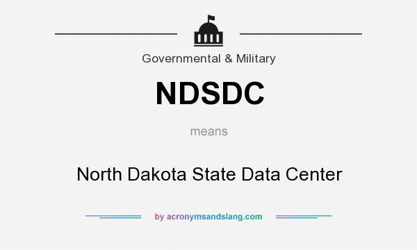 What does NDSDC mean? It stands for North Dakota State Data Center