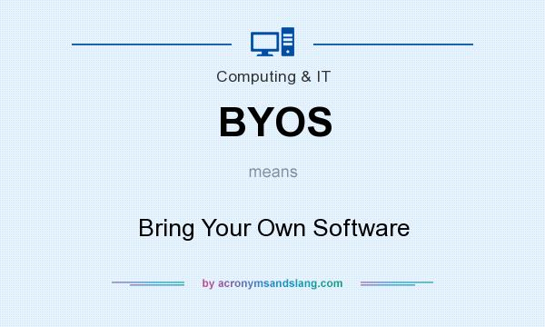 What does BYOS mean? It stands for Bring Your Own Software