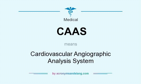 What does CAAS mean? It stands for Cardiovascular Angiographic Analysis System