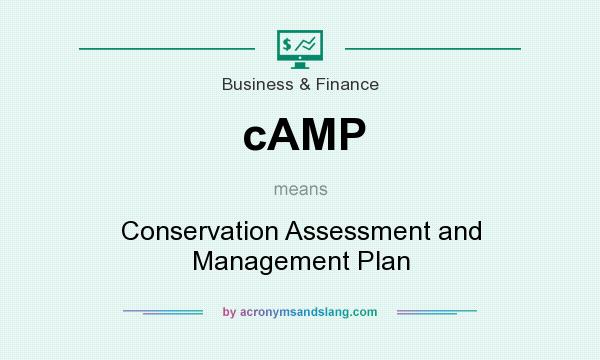 What does cAMP mean? It stands for Conservation Assessment and Management Plan