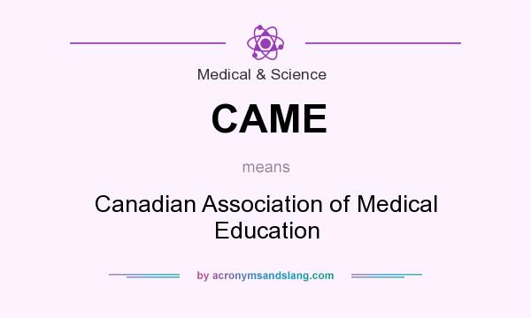 What does CAME mean? It stands for Canadian Association of Medical Education